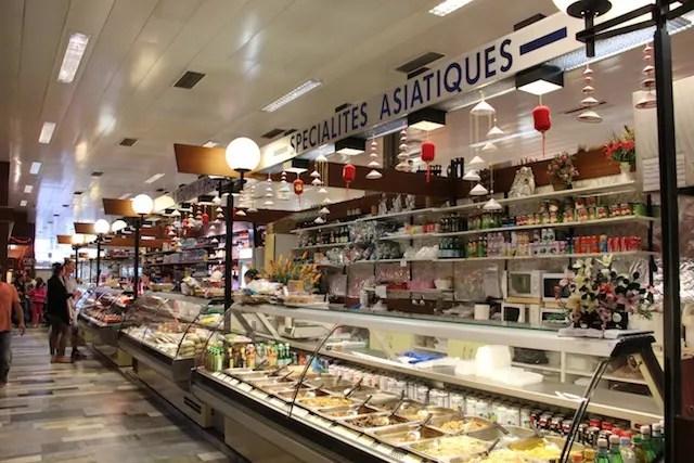especialidades gourmets no Les Halles de Rive