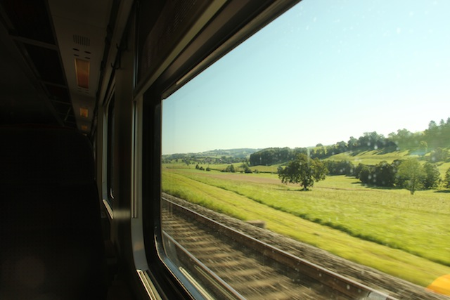 No caminho para Zurique, a partir de Montreux