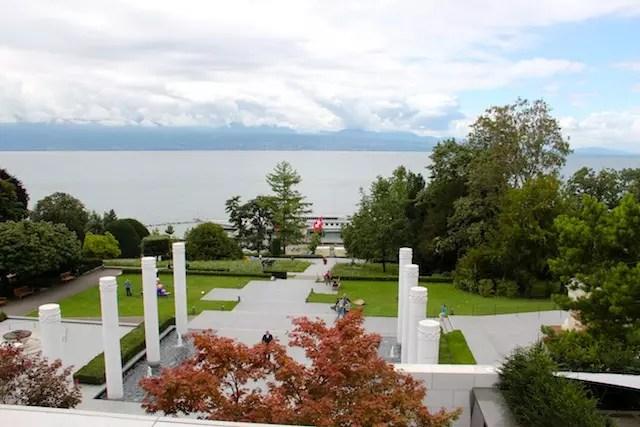 a vista do terraço do café e restaurante TOM
