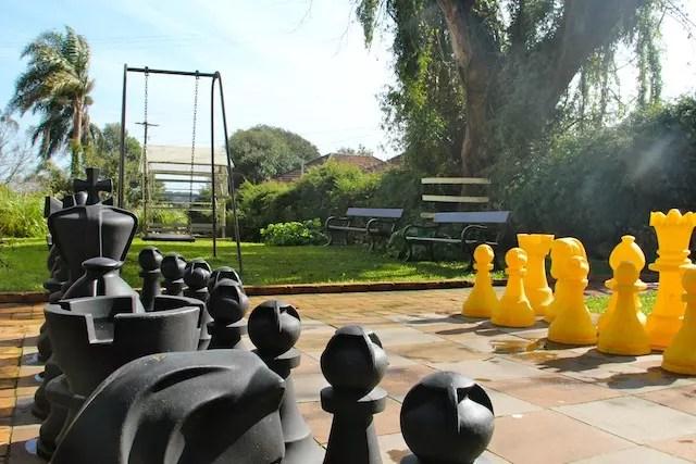 o famoso jogo de xadrez da pousada