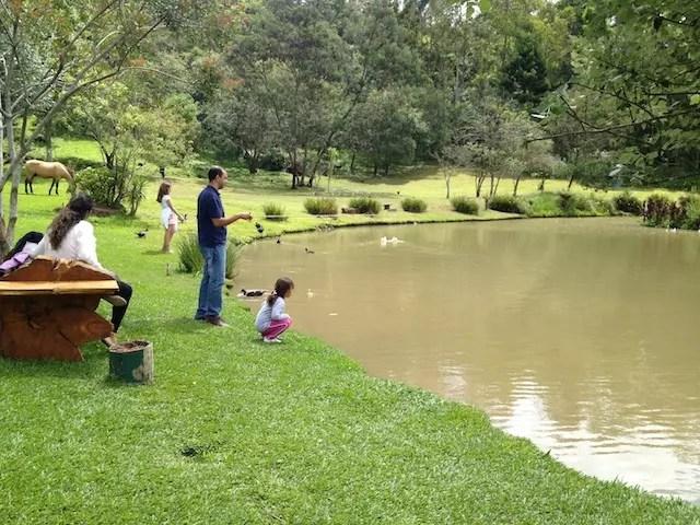 pescaria é uma das atividades para entreter a gurizada!