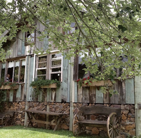 o delicioso restaurante Sabor Rural na propriedade da família Fioreze