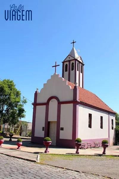 A igreja feita de vinho está no roteiro da programação Valduga