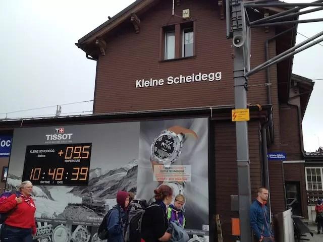 Em Kleine Scheidegg baldeação para Jungfraubahn.