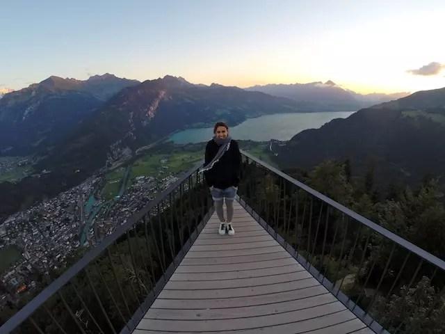 Em outra montanha menor, a de Harder Kulm em Interlaken