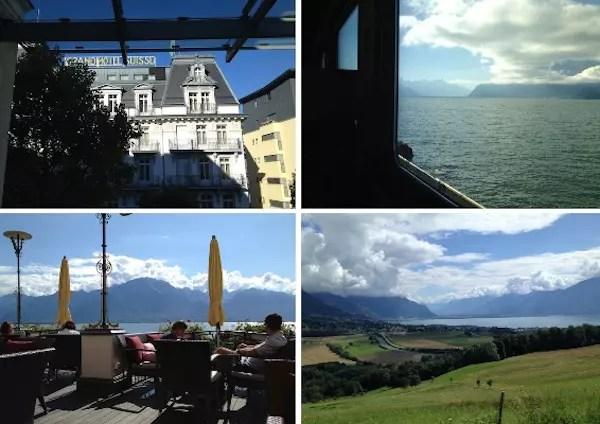 partindo de trem para o próximo destino na Suíça! Um dia eu volto...