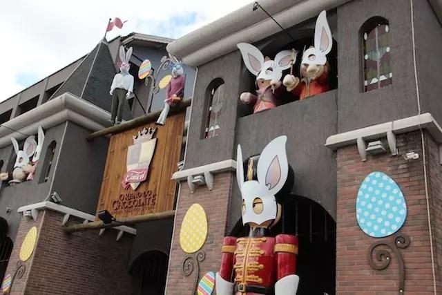 O Reino do Chocolate decorado para a Páscoa