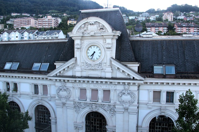 A estação central de Montreux de onde parte o Trem do Chocolate (em breve, o post da experiência no Café Viagem!)