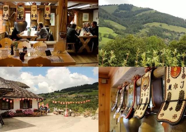 paradinha para almoço nas montanhas no Buvette D'Alpage Chez Boudji