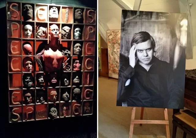 o artista jovem e suas criações estão expostas no Museu