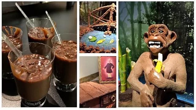 O ingresso ao Museu do Chocolate dá direito a uma provinha de chocolate derretido quentinho, nhamy