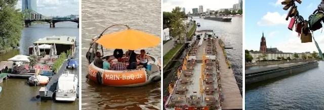 passeios e refeições nos barcos pelo Rio Meno, outra programação bem turística