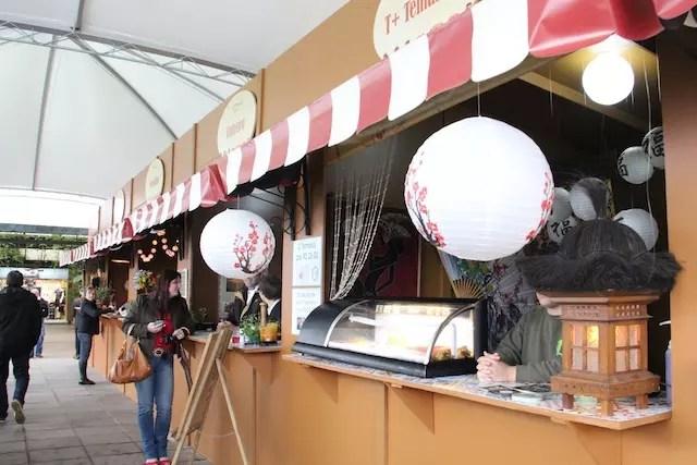 A pequena área de alimentação é uma das novidades do Festival