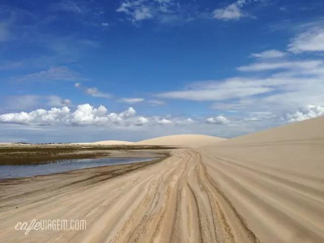 Apresento, a estrada de Jijoca para Jericoacara