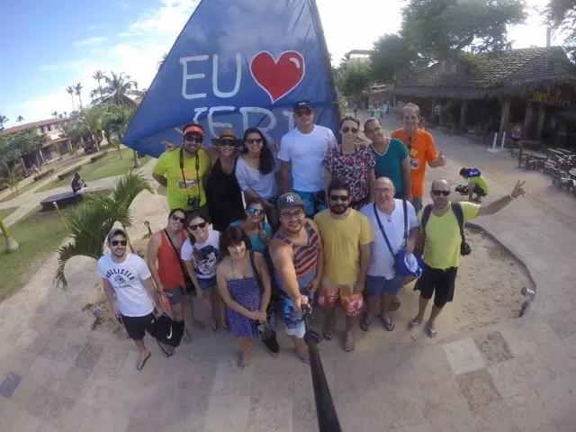 Grupo reunido na praça central de Jeri a caminho do passeio de Buggy. Foto Blog Boa Viagem