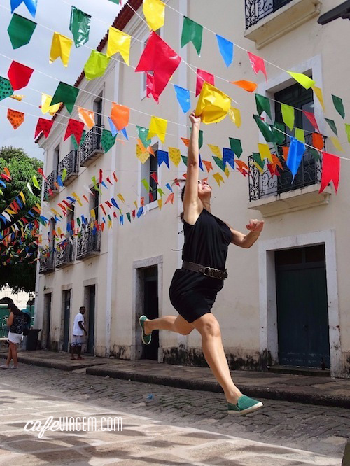 O último pulo de emoção foi no clima de São João, no centro histórico de São Luís, a despedida