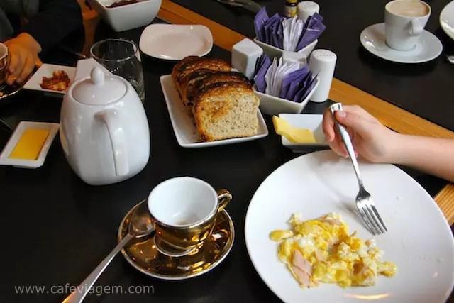 Café da manhã charmoso no The Aubrey, Santiago do Chile