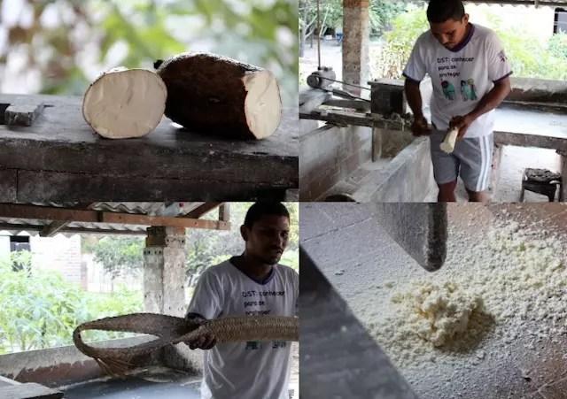 Aprendendo o passo a passo da formar artesanal de fazer a farinha de mandioca