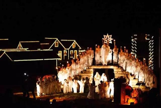 O espetáculo natalino