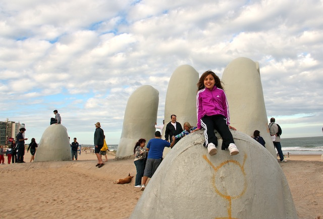 Punta del Este com criancas