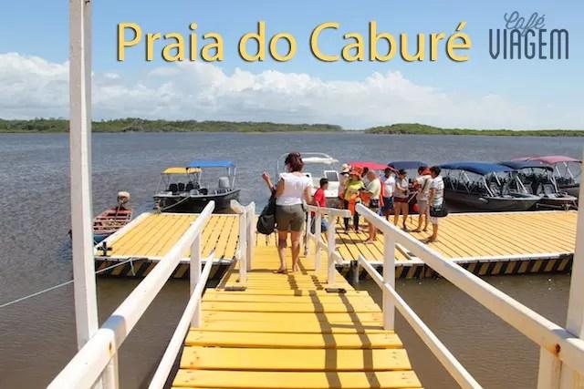 Trocando o carro pelo barco e embarcando na lancha voaderia em Caburé para os passeios no Rio Preguiças