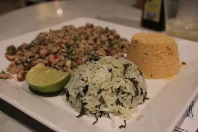 Picadinho de Tambaqui e arroz de jambu, delicioso