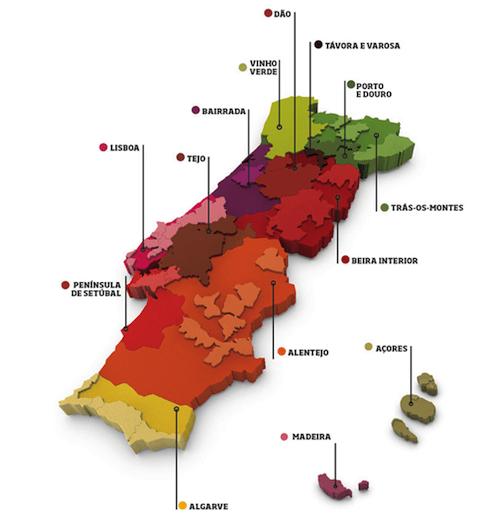 Mapa www.winesofportugal.info