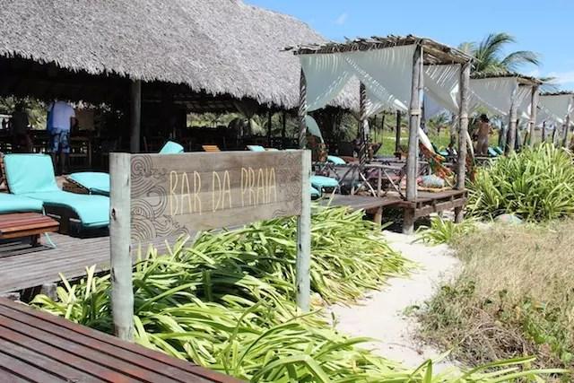O Bar da Praia na Pousada Rancho do Peixe