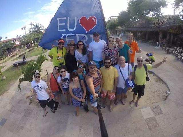 Foto da turma antes da partida. Registro do Luiz Junior do blog Boa Viagem