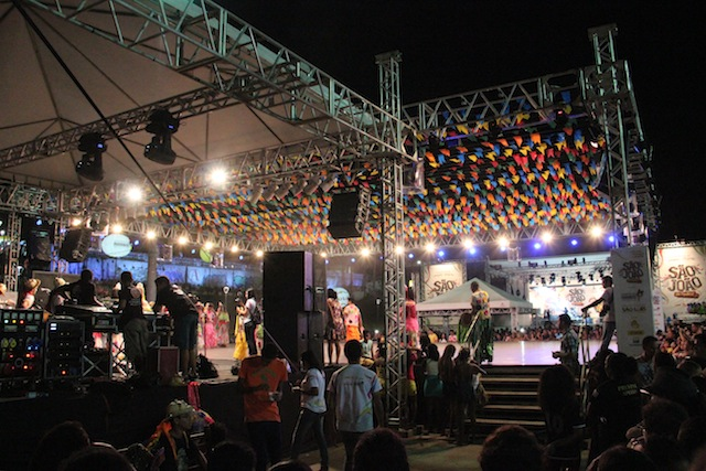 O palco