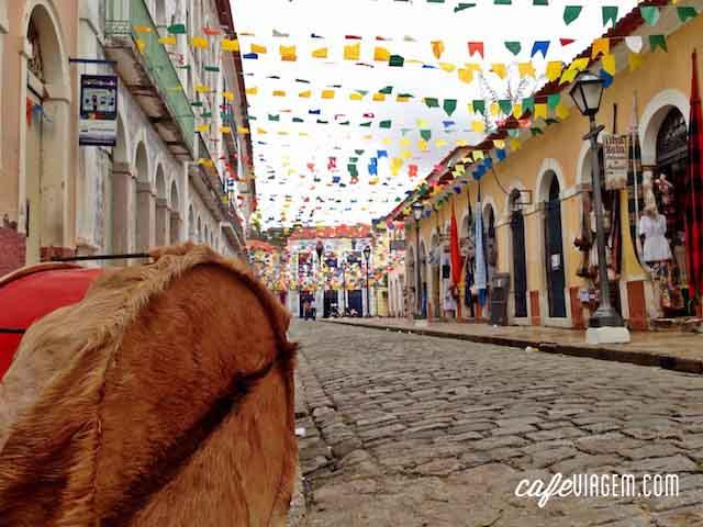 O Centro Histórico de São Luís decorado para o São João