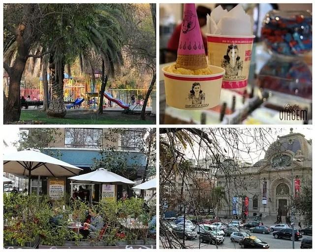 O parque, a sorveteria e o museu
