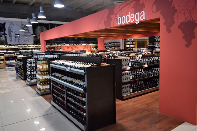 a adega impressionante do Siñeriz Shopping de Rivera