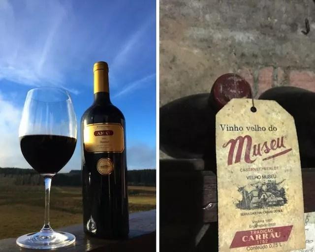 De um lado o tannat campeão dos vinhedos de Rivera (Amat) e do outro, o Velho Museu da Serra Gaúcha