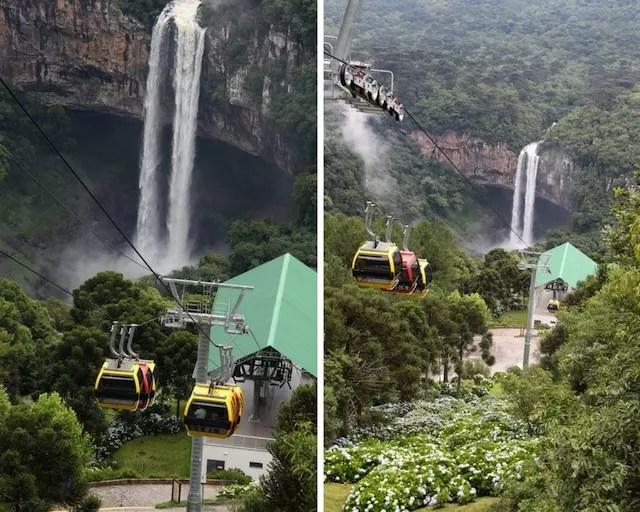 Cascata do Caracol Bondinhos Parques da Serra