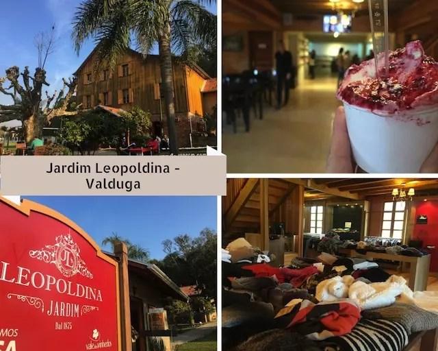 Leopoldina, ao lado da Vinícola Valduga para comprinhas, sorvete e relax à tarde