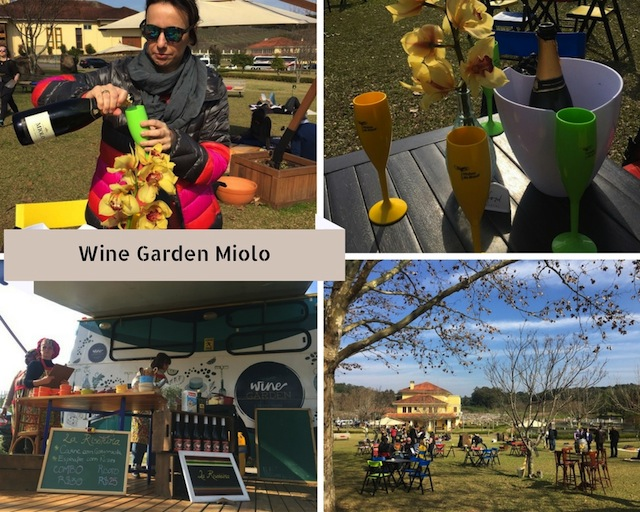 Comece ou finalize o brinde do roteiro no Wine Garden Miolo