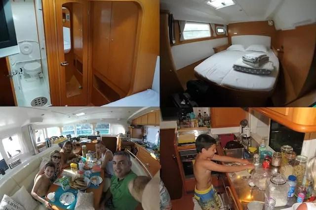 Parte interna do barco – São 4 suítes.