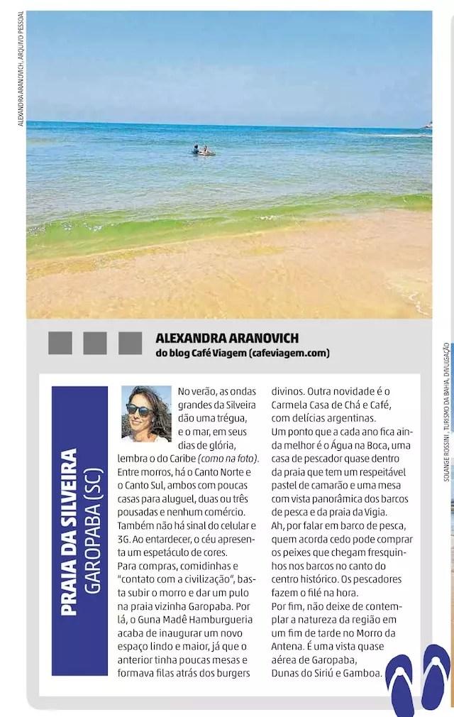 Praia da Silveira Jornal Zero Hora