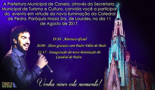 evento de inauguração da nova iluminacao da Catedral de Pedra