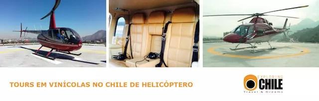 Viníolas do Chile de helicóptero