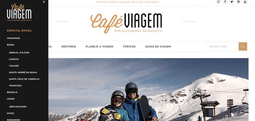 Novo visual Café Viagem