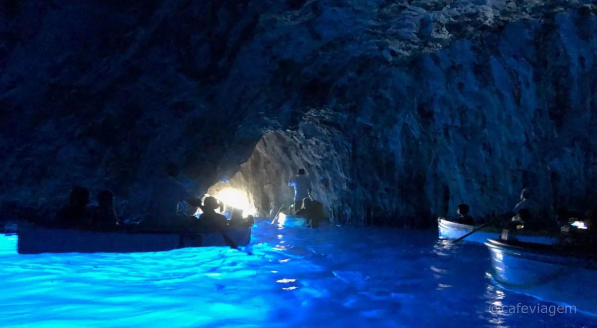 Gruta Azul de Capri passeio