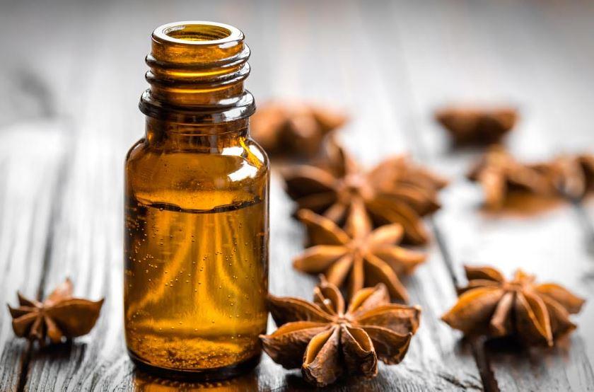 essential oil in bottle