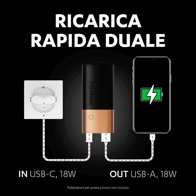 Il powerbank Duracell ricarica gli smartphone mobili
