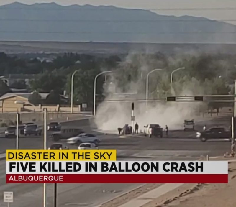 Albuquerque mongolfiera caduta