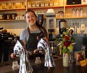 400 Fairview Caffe Ladro South Lake Union features a Modbar espresso brewing system