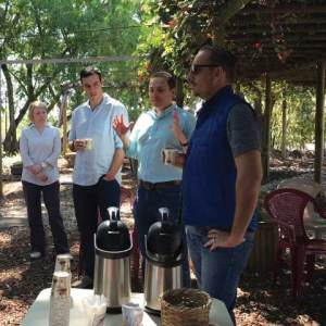Breakfast in Beneficio La Eva in Costa Rica on Ladro Roasting's Spring 2017 Coffee buying trip