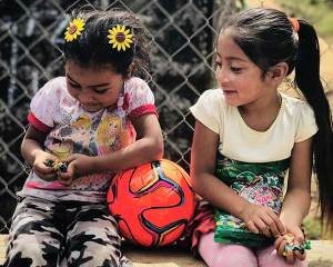 El Salvador Children with Soccer Ball and Candy from Jack Kelly and Caffe Ladro
