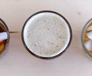 Shakerato is a frothy coffee drink made by shaking ingredients over ice